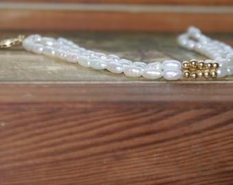 Vintage Miniature Baroque Fresh Water Pearl Bracelet