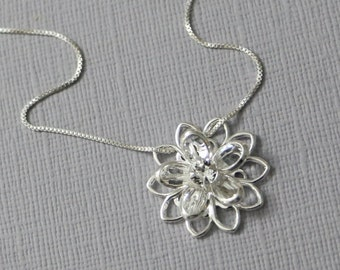 Flower Girl Necklace, Swarovski Bridesmaid Necklace Bridesmaid Gift NEcklace, Flower Girl Gift Necklace,Wedding Necklace, Bridesmaid Jewelry