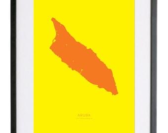 "Aruba 18"" x 24"" FRAMED Print"