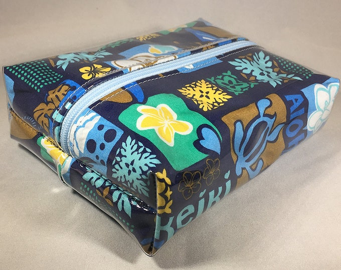Make Up Bag - Ohana Box Shaped Cosmetic Bag