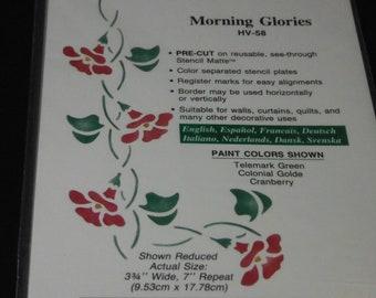Stencil Ease Home Decor Stencil Morning Glories # HV -58