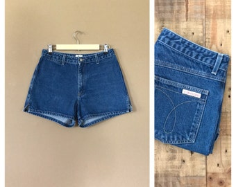 "30"" High Waisted Denim Shorts/Calvin Klein Shorts /Levi High Waisted Denim Shorts/Jean Shorts /Cutoff Shorts /Levis Cutoff/ 90s Denim Shorts"