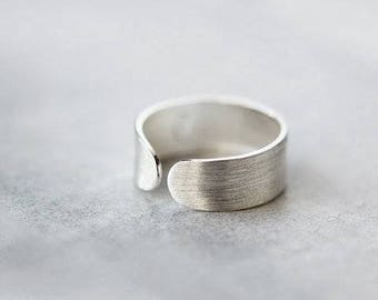 Handwriting Ring in Sterling Silver