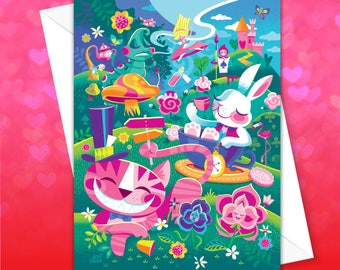 A Walk Through Wonderland Greeting Card