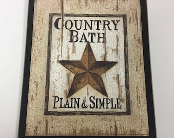 country bath plain and simple outhouse bathroom sign decor decorations