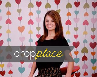 Printed Rainbow Hearts Photography backdrop  Background Photo Booth Printed vinyl or Fabric (Multiple Sizes Available)