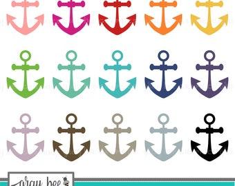 SALE! Anchor Clipart Set, Commercial Use, Instant Download, Digital Clipart, Clip Art, Planner Clip Art- MP217