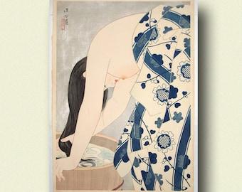 High Quality Washing The Hair 1953   Ito Shinsui Print Ukiyo E Poster Japanese Wall Art  Shinsui Poster Gift Idea Japanese Art