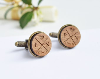 Unique Personalized Cufflinks, Engraved Cufflinks, Wedding Cufflinks, Initials Cufflinks, Custom Cufflinks