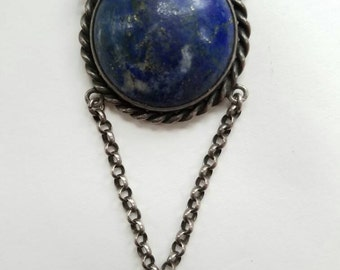 Vintage Silver and Lapis Necklace