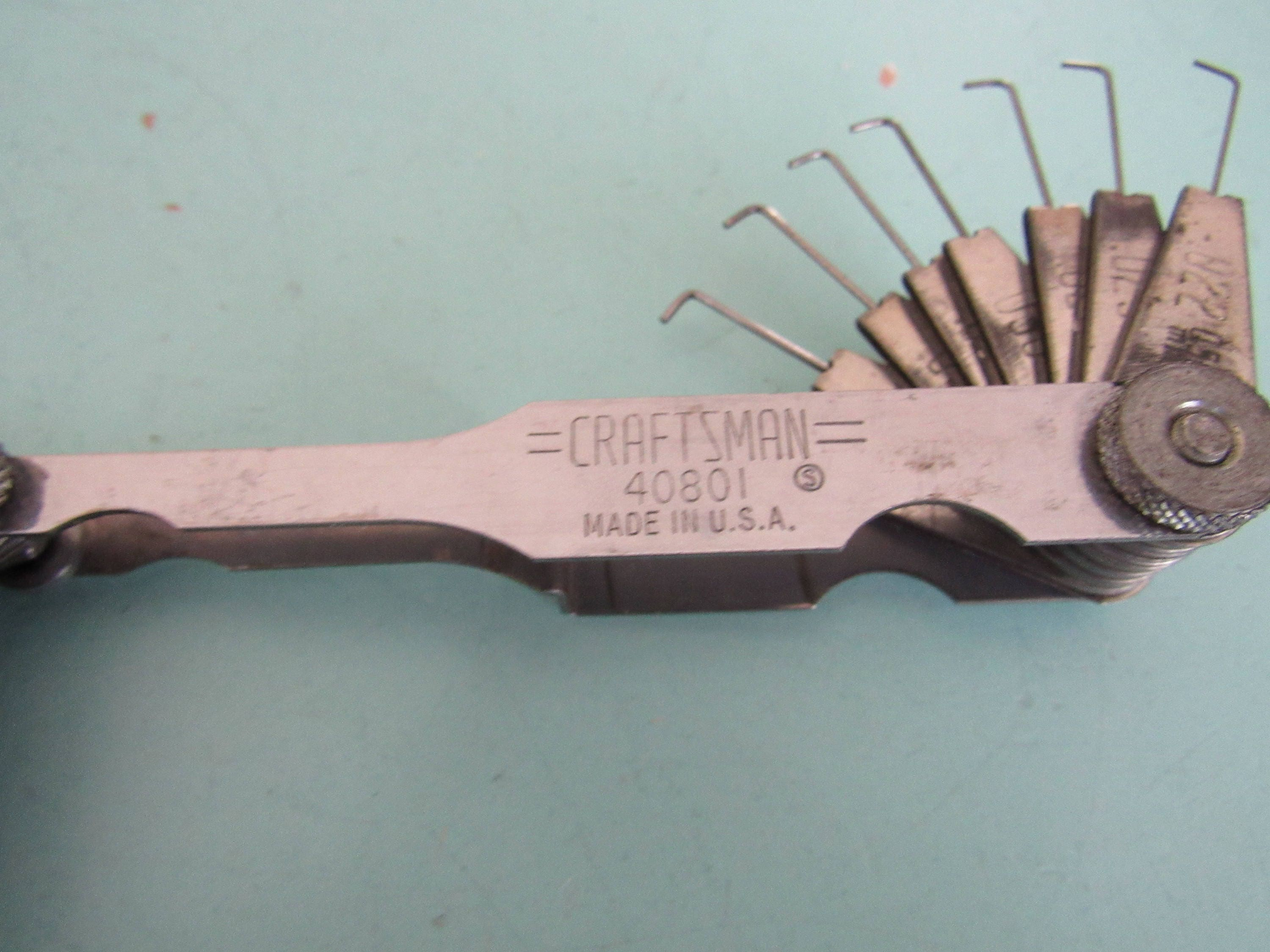 Vintage Craftsman 40801 Feeler and Spark Plug Gap Wire Ignition ...