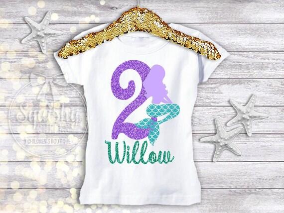 Mermaid Birthday Shirt Mermaid 2nd Birthday Mermaid Birthday