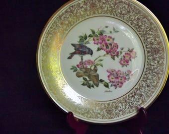 NEW PRICE - Lenox Collector Bird Plate 1975 Redstart