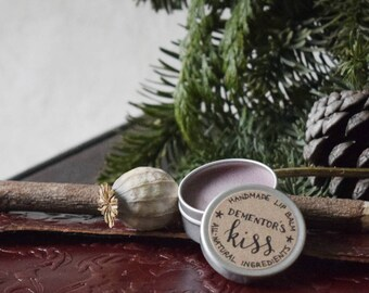 Dementor's Kiss - Harry Potter Literary Lip Balm - All Natural Ingredients