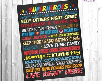 Rules for Superheroes