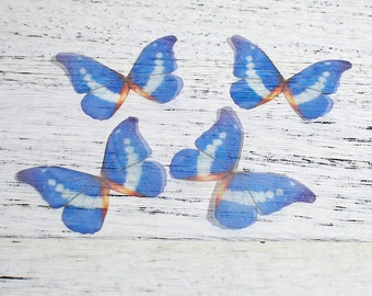 free UK postage Pack of 5 Ethereal Organza Royal Blue Butterfly for Millinery or Decoration B0089065
