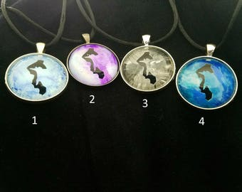 Hand-painted Whidbey necklaces