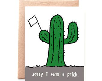 Sorry I Was a Prick