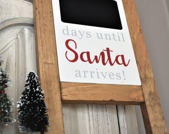 Santa Countdown - Chalkboard Countdown - Santa Chalkboard Countdown Sign - Santa Sign - Christmas Countdown - Christmas Sign - Countdown