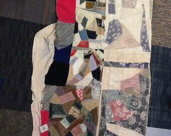 Vintage Crazy Quilt Topper
