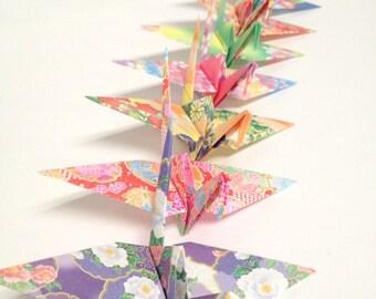 Origami Crane Ornaments, Store Window Display, Japanese Origami Cranes, Origami Birds, Origami Decorations, Origami Garlands, Japanese Theme