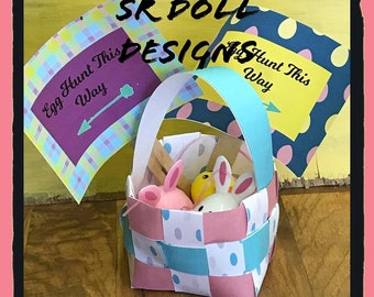 "18"" doll Easter Basket Printable"