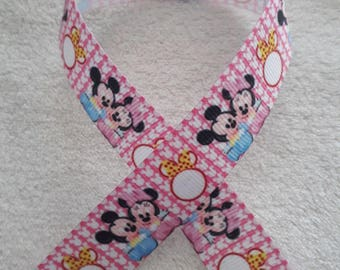 169 - Ribbon baby mickey and minnie - grosgrain - 22 mm sold by 50 CM - Baby minnie and mickey ribbon