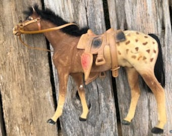 Antique Appaloosa Toy Horse - Collectible 14'' in Length