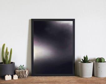 Storm clouds, atmospheric graphic art print