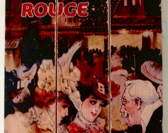 Vintage Poster - Le MOULIN ROUGE  on #Recycledwood