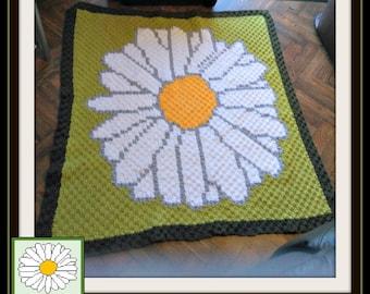 C2C Graph, Daisy Afghan, Crochet Pattern