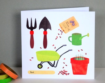 Gardening Greetings Card