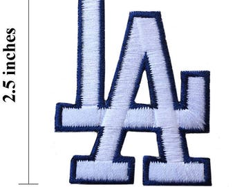LA Los Angeles Logo Embroidered Iron On Patch.
