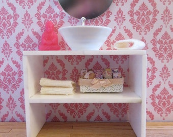 Bathroom cabinet with shelf. Scale 1:12