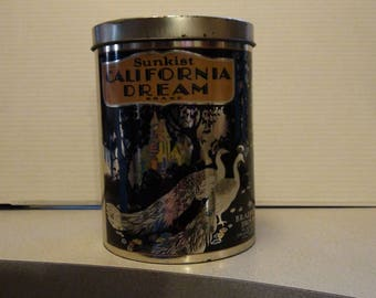 Sunkist California Dream Brand Tin