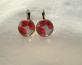 Poppies poppies poppies earrings