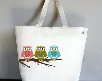 RECYCLED CLASSIC TOTE - Three Owls ORIGINAL