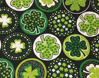 St. Patrick's Day Fabric Cotton By the Yard 36 Inches Long