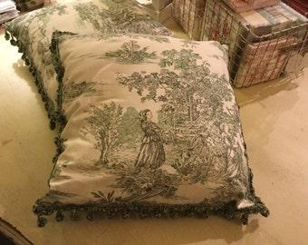 Pillows Toile de Jouy