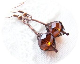 wire wrapped earrings tutorial - easy tutorial for beginners - wire wrappping tutorials - tutorial VII
