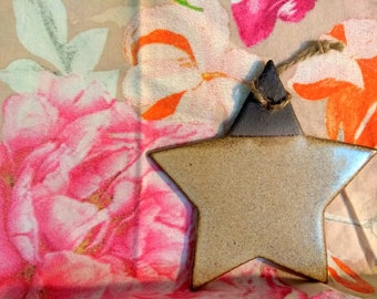 Hand made ceramics beige star