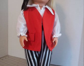 Pirate Costume for 18 inch Doll