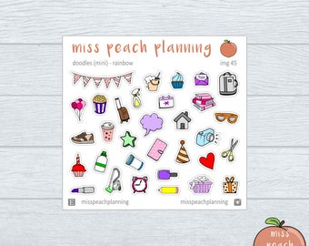 NEW - mini doodle stickers || planner stickers || img 45