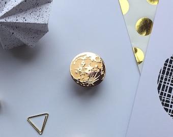 Harvest moon pin - moon pin - rose gold pin - moon jewellery - enamel pin - pin flair - lapel pin - pin game