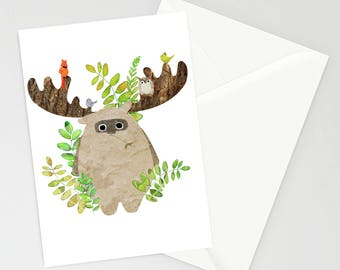 Forest Creature A6 blank greetings card