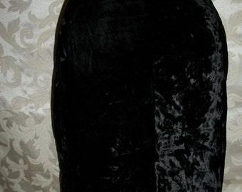 80s Black Velvet Skirt