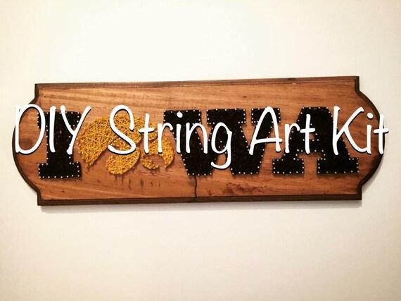 Diy iowa hawkeye string art kit custom any state thread art te gusta este artculo solutioingenieria Images
