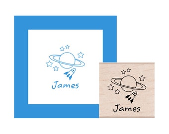 Out of this World Space Personalized Rubber Stamp