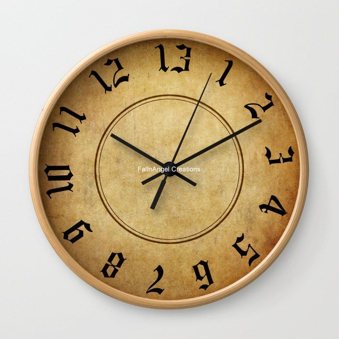 Labyrinth 13 Hour Wall Clock You Choose Frame & Hand Colors