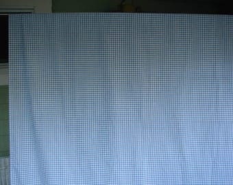 """Blue and White Gingham Check Tablecloth, 57 x 71"""",  Vintage Tablecloth, Farmhouse Chic, Summer Tablecloth, Picnic Tablecloth"""